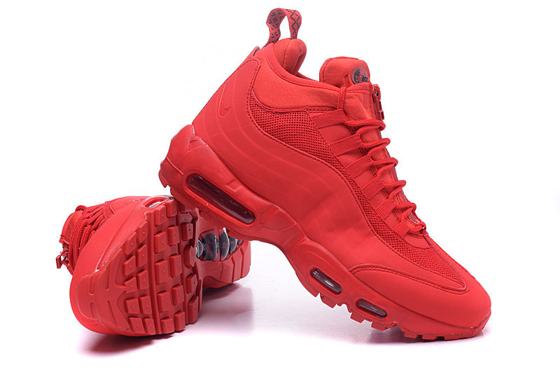 air max sneakerboot patch 95 class flag red,mid air max 95 black volt