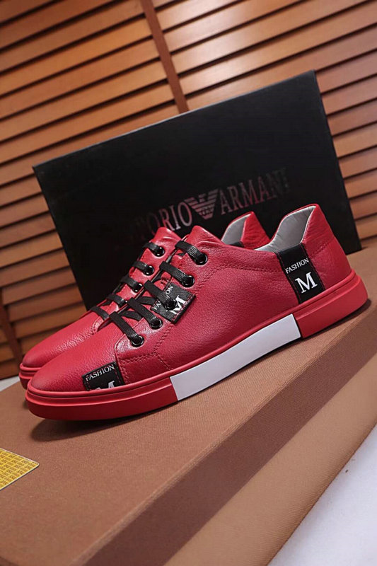 armani exchange shoes online uk  fashion cowhide skateboard bottom rouge