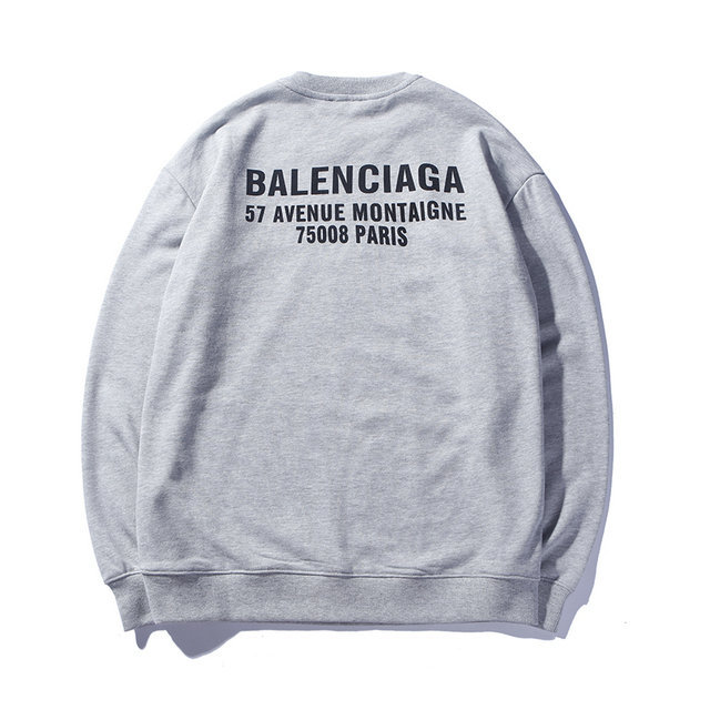 balenciaga crewneck sweatshirt logo out gray