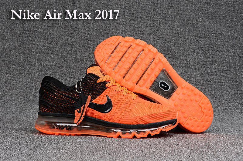baskets air max 2017 femme blanc orange black
