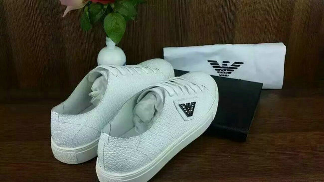 baskets en cuir man armani jeans cuir serpentine white