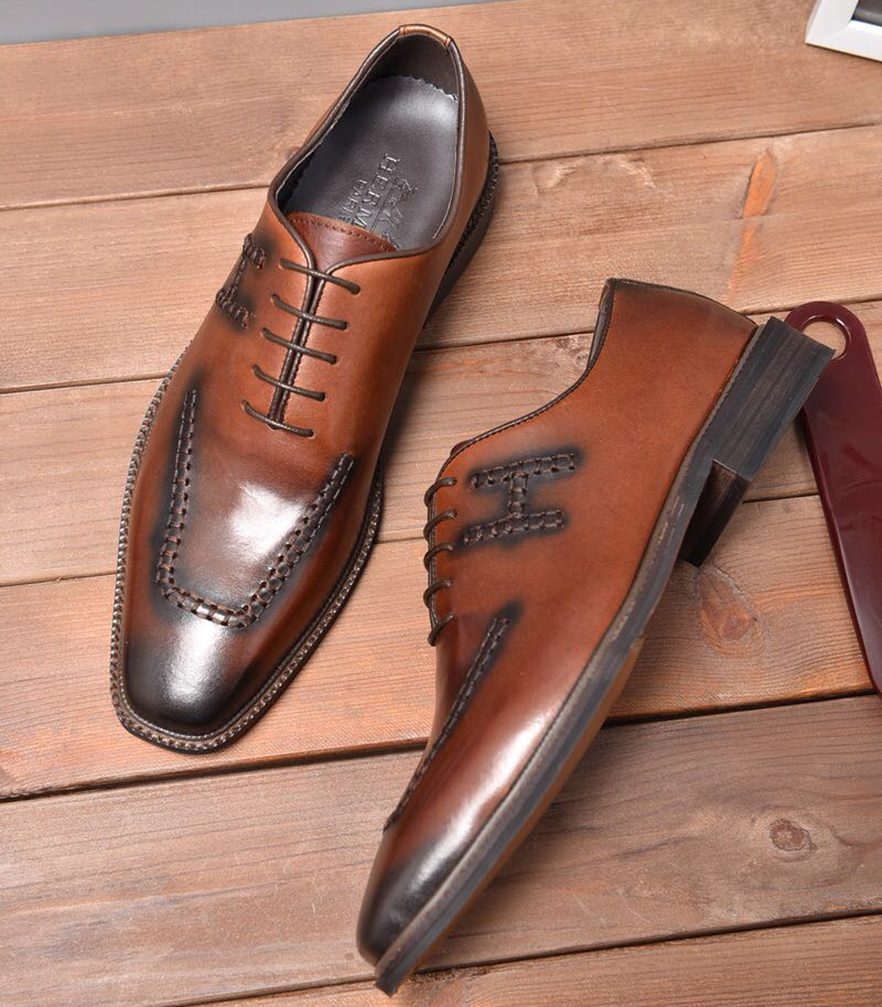 chaussure bateau hermes business affairs leather chaussures brown