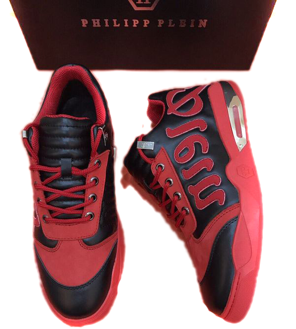 chaussure philipp plein sport homme leather top red