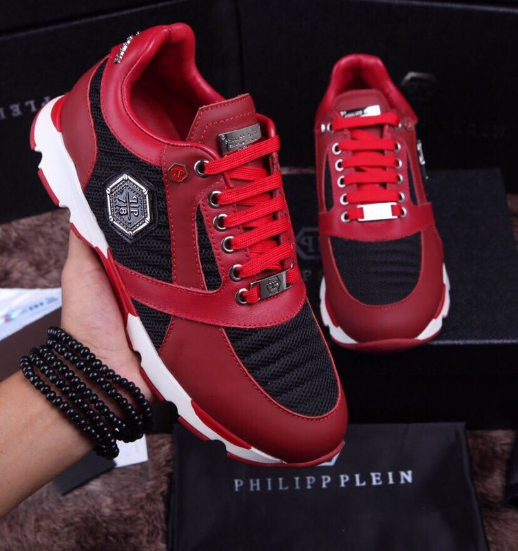 chaussure philipp plein sport homme qp78 red leather