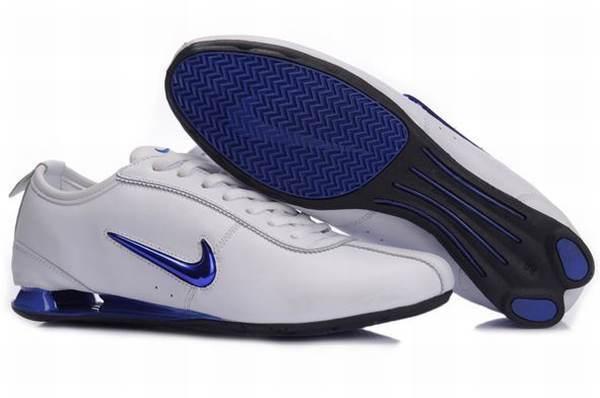 Nike Shox Rivalry Blanc Et Bleu