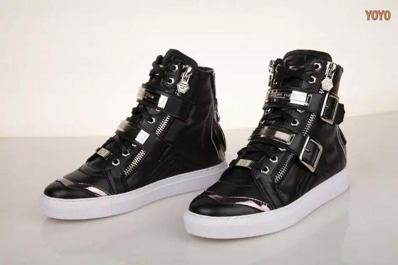 cuir philipp plein femmes hommes collections high leather black