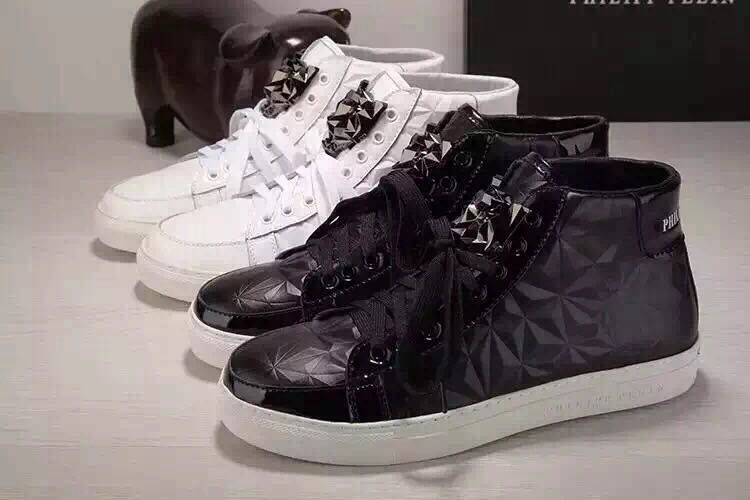 cuir philipp plein femmes hommes collections rock high chaussures