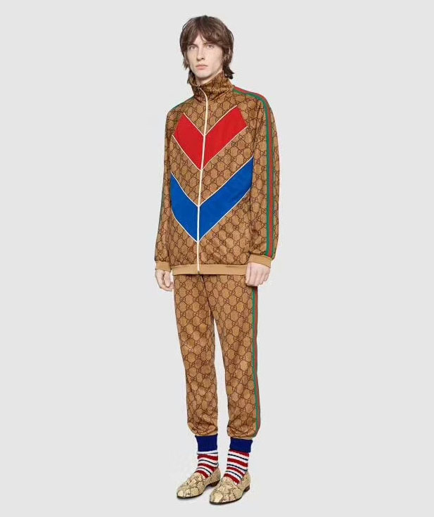 gucci blouson pantalon de survetement arrow gold