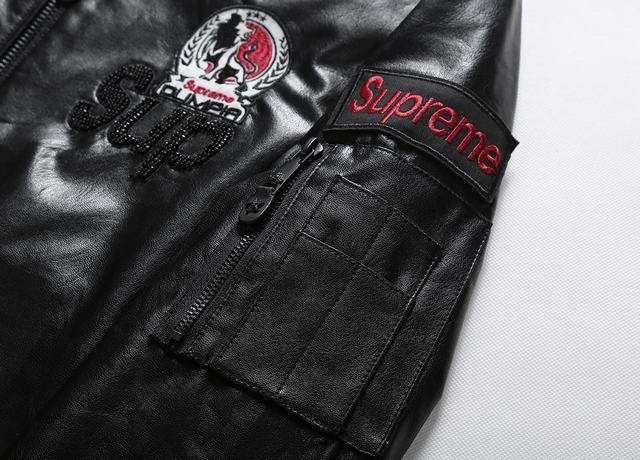 gucci embroidered leather jacket super star