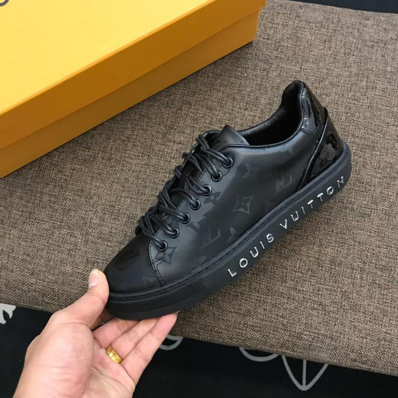 louis vuitton fr chaussures low top black monogram