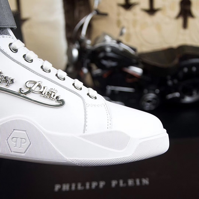 man philipp plein chaussures france all leather white