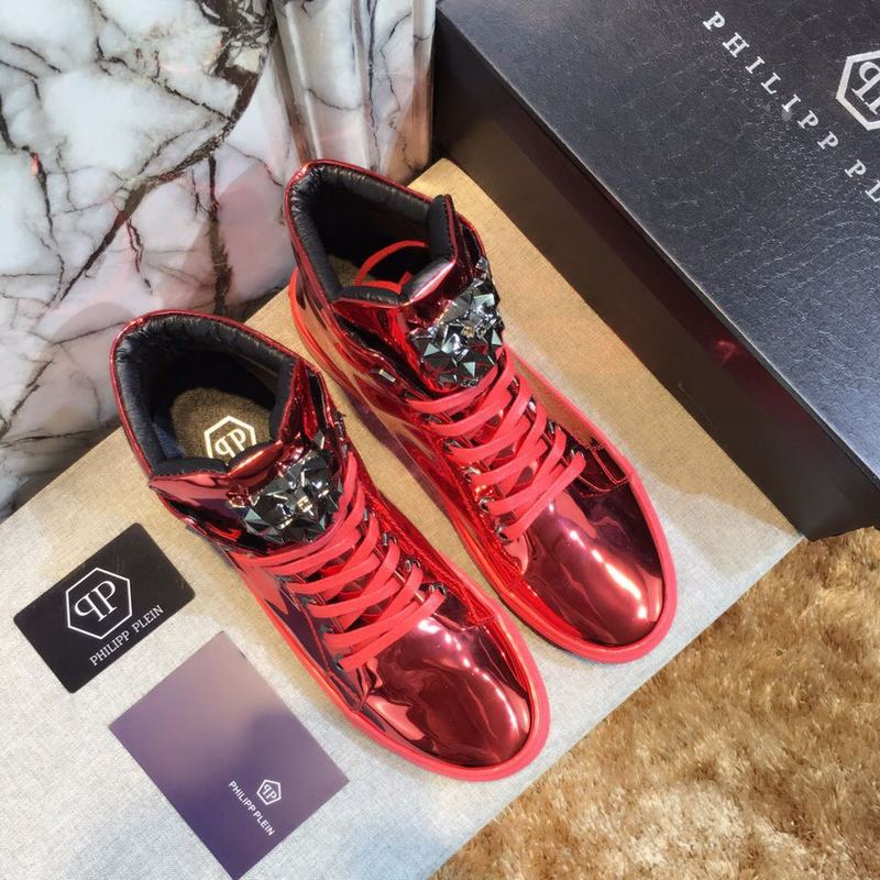 man philipp plein chaussures france red patent leather
