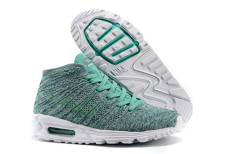 man nike flyknit air max 90 spider summer green