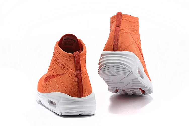 man nike flyknit air max 90 spider summer orange