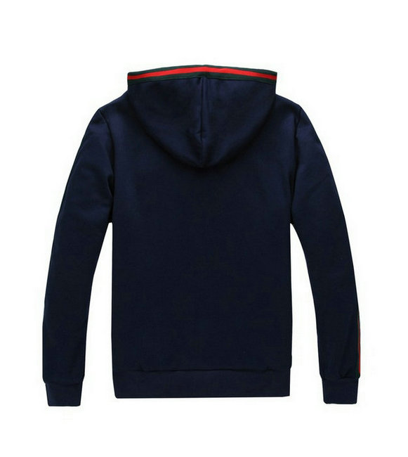 man survetement gucci jogging ou marche blue hoodie mode