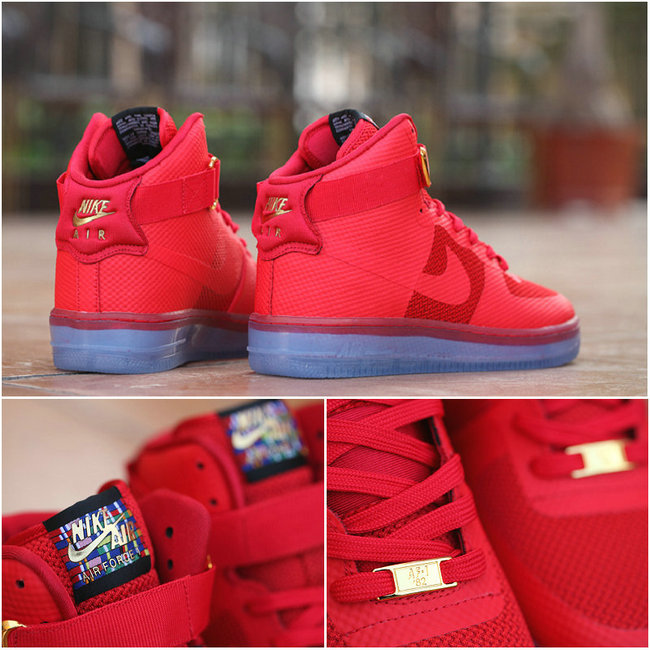 nike air force 1 hommes flag red