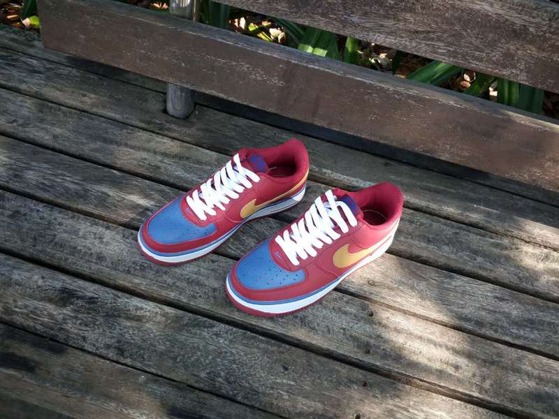 Force Blue Air One 1 Lacet Red Plum air Nike Avec BeroQdxCW