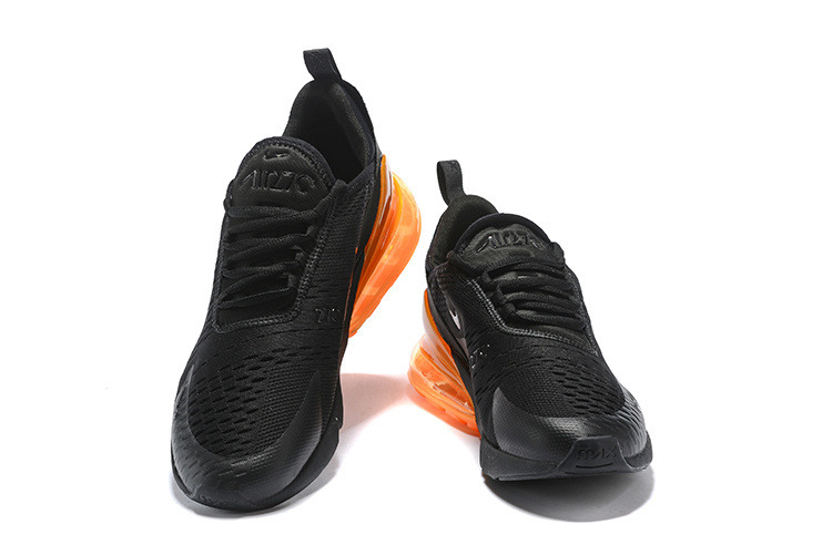 nike air max 270 flyknit trainers black orange