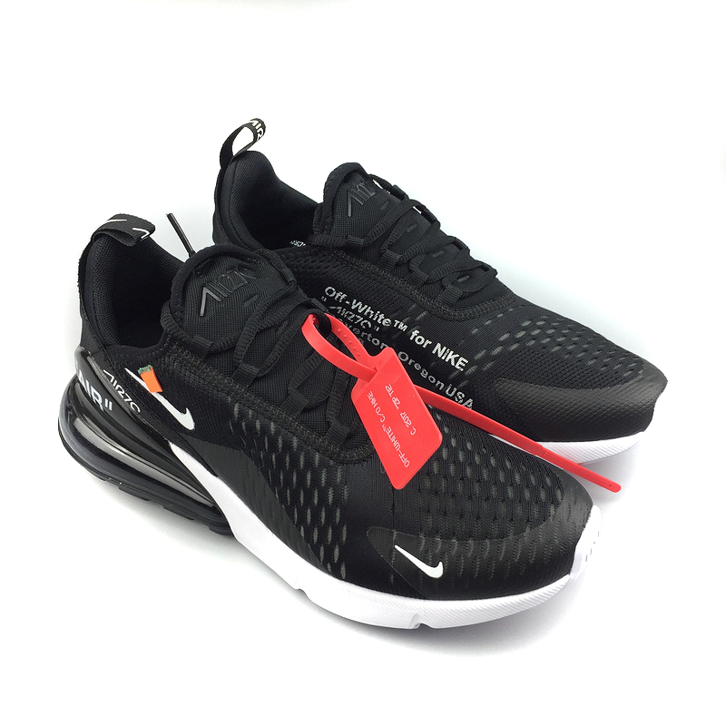nike air max 270 flyknit trainers black white