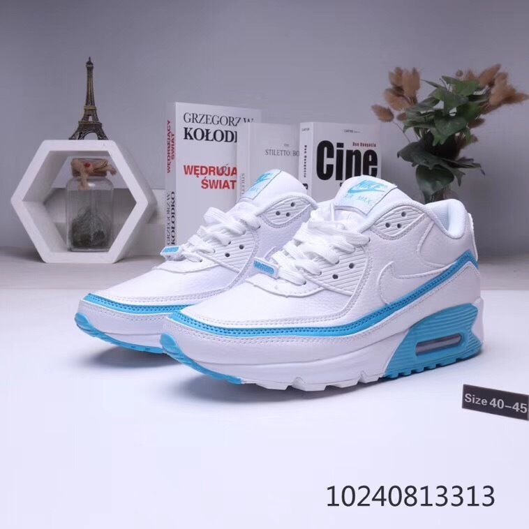 nike air max 90 flyknit 2.0 sneakers 30th_3450 white blue