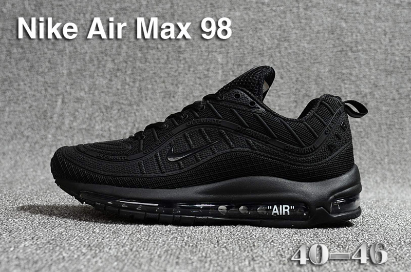 nike air max 98 france prix usine all black