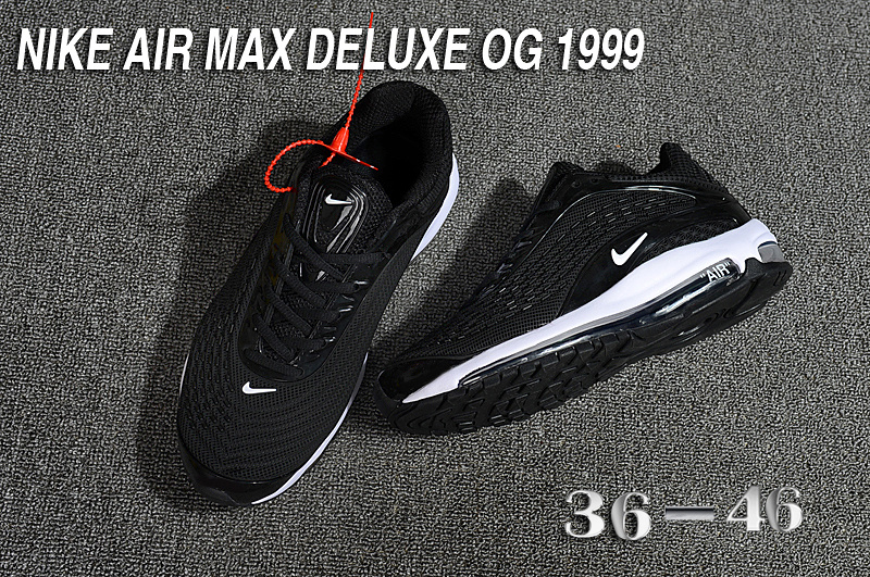 nike air max deluxe fit ebay hot 1999 noir blanc