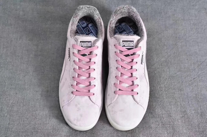 puma suede mode heart reset cristal pink