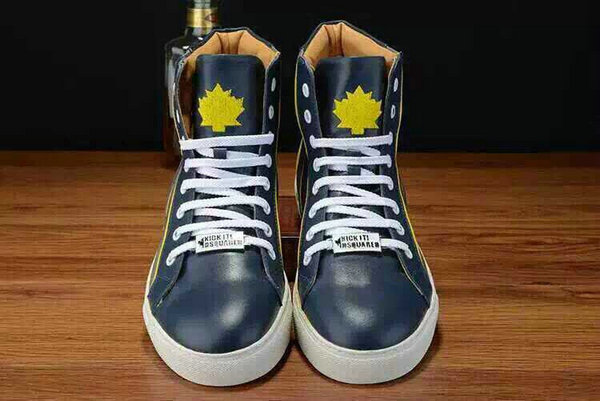 chaussures dsquared2 junior leather high top bleu
