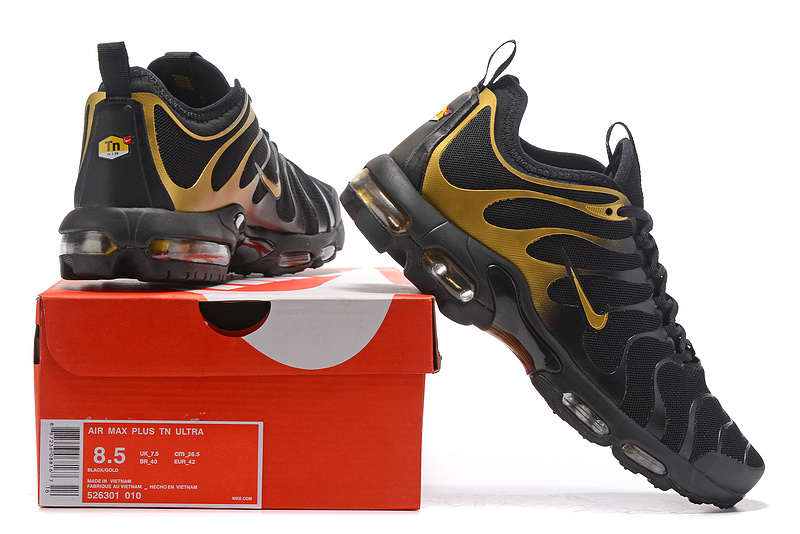 chaussures nike tn air max plus prm sport stripe or