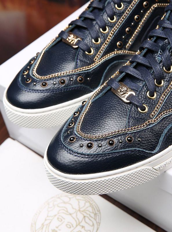 shoes versace jeans linea fondo running leather rivets