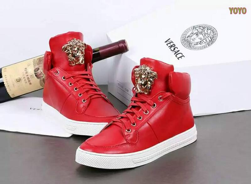 chaussures versace jeans linea fondo running high red