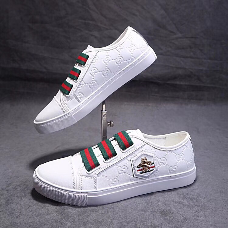 chaussures gucci edition limitee elastic band blanc