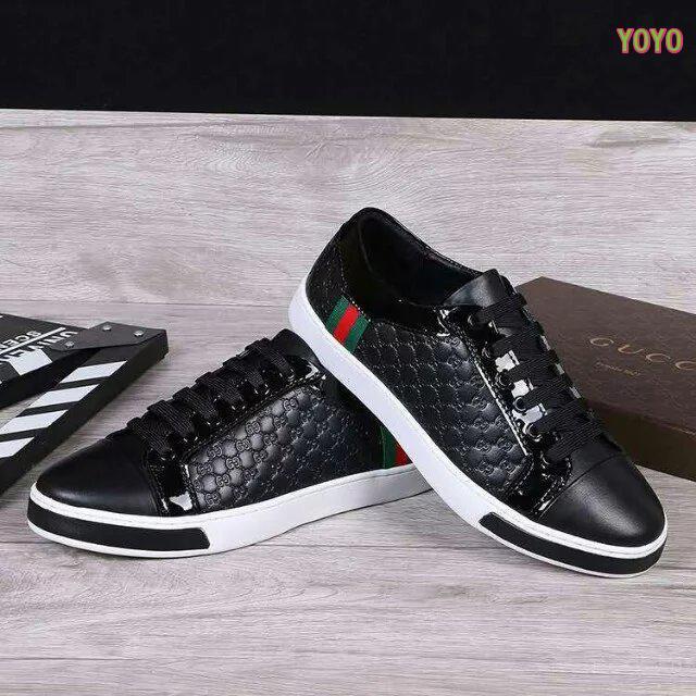 edc0d4812dc ... chaussures gucci junior gaufrage noir cuir