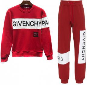 new givenchy  sport sweat suits tracksuits jacket jogging pari red