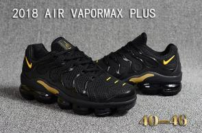 air vapormax plus baskets basses black gold