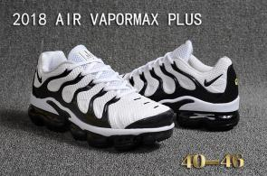 air vapormax plus baskets basses white black