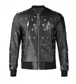 acheter philipp plein brand outdoor cuir jacket hommes leather star cuir
