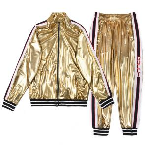 acheter gucci brand gg tracksuit glossy gold