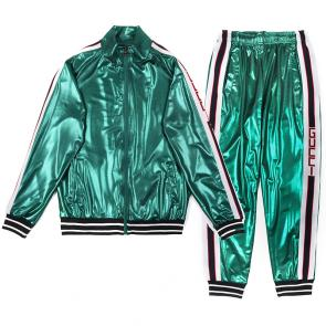 acheter gucci brand gg tracksuit glossy green