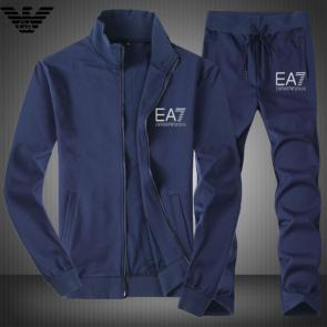 armani ensemble de survetement ea7 ea7 logo blue