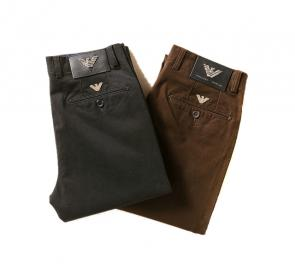 armani jeans hommes regular-fit pantalon decontracte brown