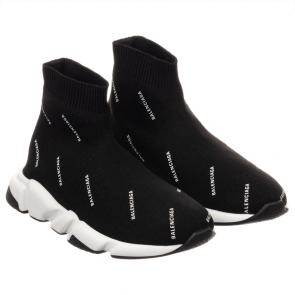 balenciaga metallic knit sock sneakers balenciaga strip logo black