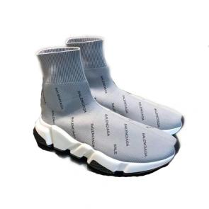 balenciaga metallic knit sock sneakers balenciaga strip logo gray