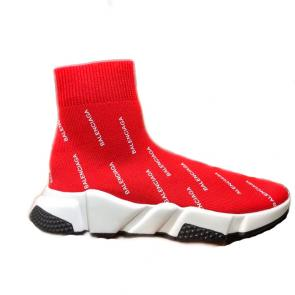 balenciaga metallic knit sock sneakers balenciaga strip logo red