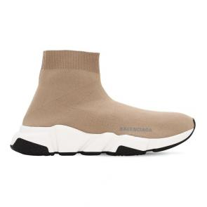 balenciaga metallic knit sock sneakers brown white