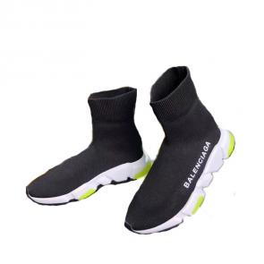 balenciaga metallic knit sock sneakers high noir vert