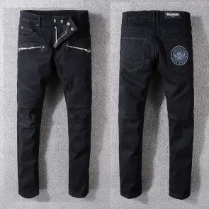 balmain ripped destroyed distressed straight jeans 1049ba-112