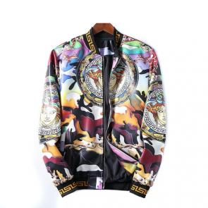 blouson en jean versace medusa header leather