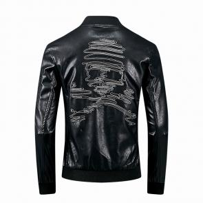 blouson philipp plein luxueux new skull embroidery