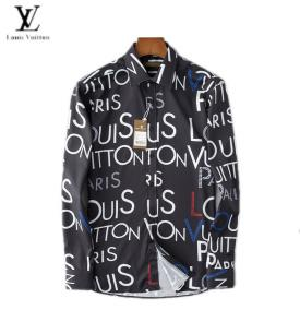chemises louis vuitton shirts homme printemps-ete big lv flower